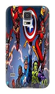 Fashion colorful cute pattern custom tpu hard back skin case cover for Samsung Galaxy s5(Marvel Comic Harley Quinn) by Kathleen Kaparski