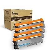 V4INK 4 Packs Compatible Brother TN660 TN630 Toner Cartridge For Brother DCP-L2540DW MFC-L2700DW HL-L2340DW L2360DW L2300D L2720DW L2740DW L2380DW L2500D DCP-L2520DW Printer Series (Black, 4-Pack)