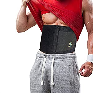 Best Premium Waist Trainer & Trimmer Ab Sweat Belt For Men & Women. (New & Improved) Help Slim your Tummy & Hips Easier Than Ever Before Wearing a Slimming Sauna Belt. 4 Sizes, 2 Colors & Carry Bag.
