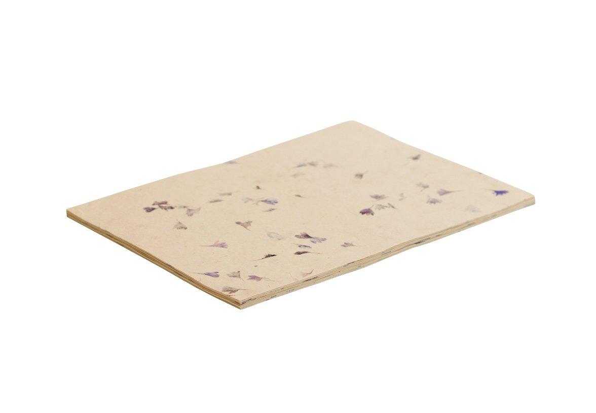 Marigold petal on Natural 50 Sheets A4 Lokta Computer Paper