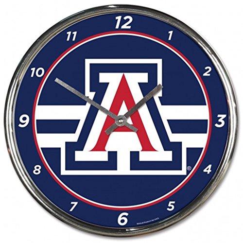 NCAA Arizona Wildcats WinCraft Official Chrome Clock by NCAA