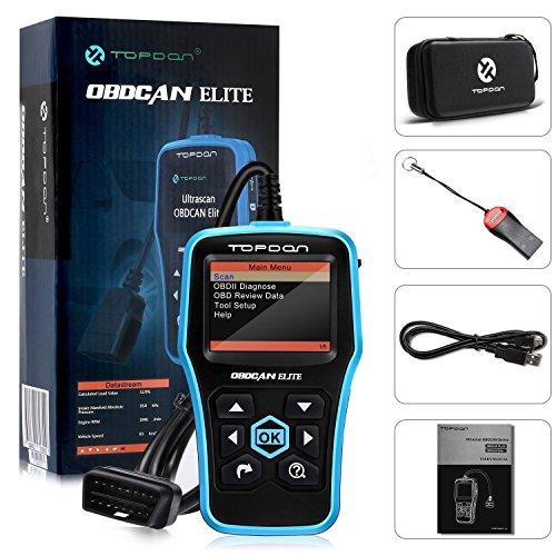 OBD2 Scanner, TT TOPDON ABS/SRS Scanner Universal CAN OBD2 Scanner OBDII Car Computer Diagnostic Tool Car Code Reader for DIY and Professional (Topdon Elite) by TT TOPDON (Image #8)
