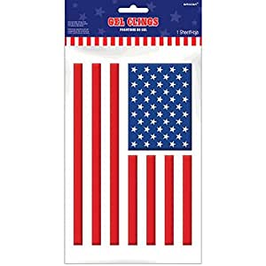 Amscan patriotic fourth of july party american for Amazon gelbsticker