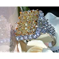 Phetmanee Shop Chic Citrine White Sapphire 925 Silver Women Wedding Bridal Jewelry Ring Sz 6-10 (7)
