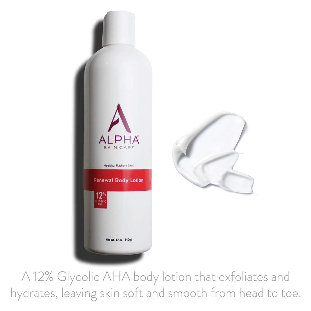 Alpha Skin Care Renewal Body Lotion for Crepe Skin Best Lotion for on Arms and Legs