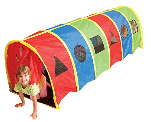 (Pacific Play Tents 95200 Kids Super Sensory 9-Foot D Style Institutional Crawl Play Tunnel, 9' x 30