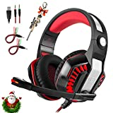 Professional PC Gaming Headset with Mic for PS4, Xbox One, Pro Over-Ear Headphones