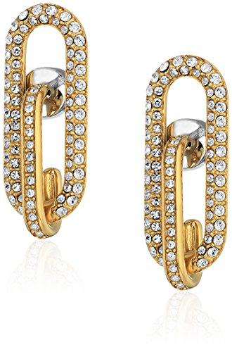 - Michael Kors Brilliance Iconic Links Gold-Tone Post Drop Earrings