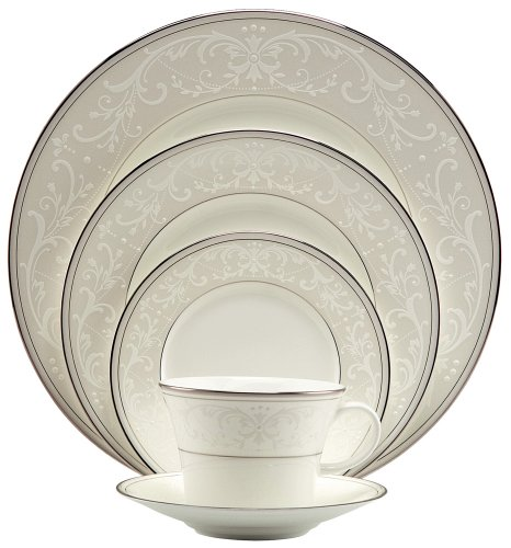 Fine China Japan Bread Plate - Nikko Pearl Symphony 5-Piece Place Setting