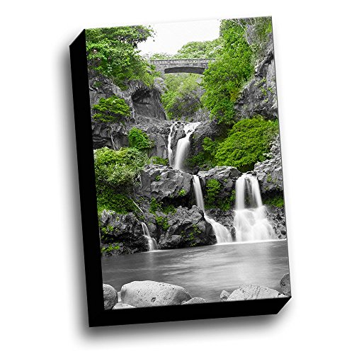 Seven Sacred Pools Maui Color Splash 12x18 Printed on Canvas Framed Ready to - Framed Maui Picture It