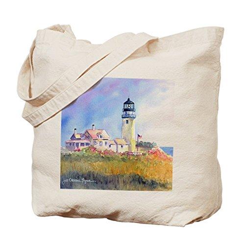 Cafepress–Cape Cod Light Tote bag–Borsa di tela naturale, tessuto in iuta