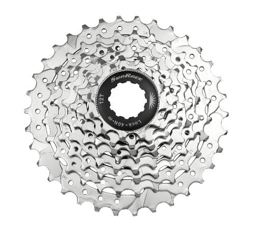 Sunrace CSM66 8-Speed Nickel Plated Cassette, 12-34T B01KH4LHO6
