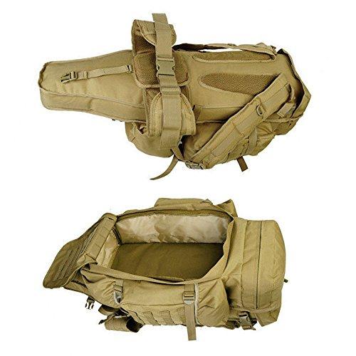 GEARDO Military Tactical Backpack Rifle Gun Storage Holder Military Survival Trekking Hiking Fishing Rod Bag W/Belt Olive