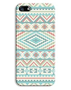 Girly Aztec Blue Design iPhone 5 5S Hard Case Cover