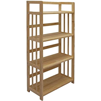WYNZYSLJ Four Layer Solid Wood Bookshelf Bookcase Without Paint Yellow Pine 622x26