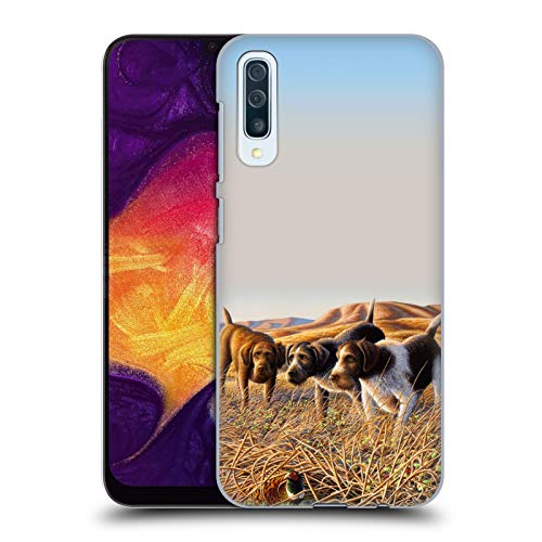 Wildlife Trio - Official Chuck Black The Perfect Trio Wildlife and Animals Hard Back Case Compatible for Samsung Galaxy A50 (2019)