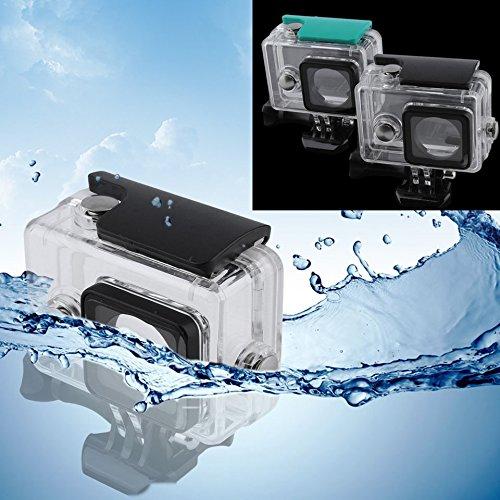 防水保護ハウジングシェルケースfor Xiaomi Yiアクションスポーツカメラ(カラー:透明+グリーン)   B07BVSKMCM
