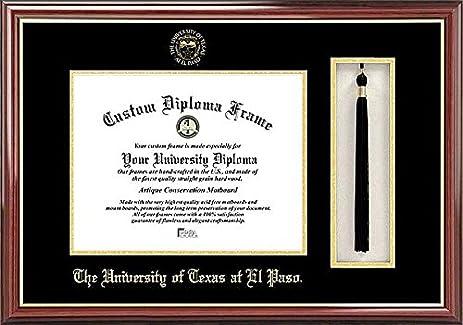 University of Texas El Paso Tassel Box and Graduate Diploma Frame ...