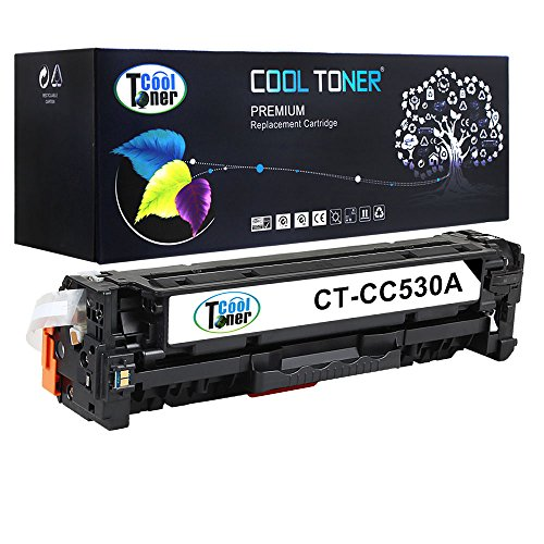 Cool Toner CHCC530A-B304A Compatible Toner Cartridge Replacement for HP CC530A (Black)