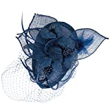 BYUMMER Womens Fablous Airly Sinamay Fascinator (Navy)