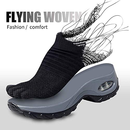 4 Fitness Sneakers Ginnastica Nero Tqgold® Scarpe Basse Donna 5cm Sportive Interna Da Zeppa wvnnZqd8HT
