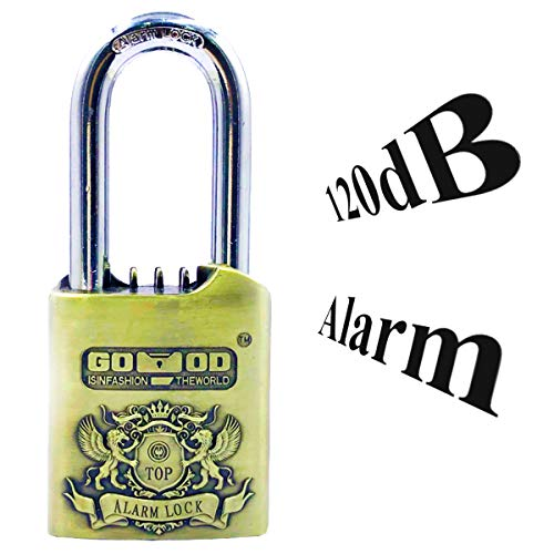 - SanJie Weatherproof Outdoor Lock with Keys Alarm Padlock 120 dB Sound Waterproof Heavy Duty Lock with Harden 12 mm Shackle for Warehouse, Bike, Gate, Sheds and Gym