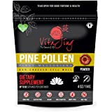 Organic Pine Pollen Powder Extract (2oz/57gm) Raw Form, Pure Wild Harvested, 99 Percent Broken Cell Wall for Optimal Absorption and Potency (Up to 46 Servings)