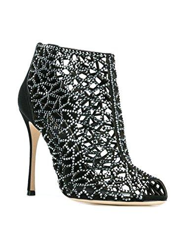 A71730MAFM391498 À Suède Noir Femme Chaussures Sergio Rossi Talons Evw6YY