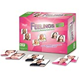MKgames Feelings - Matching & Memory Card Game. Educational, Counseling Therapy Card Game for All Ages. Promotes Cognitive and Emotional Skills, Helps Stimulate Conversation About Feelings & Emotions