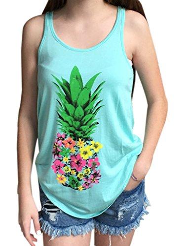 Blooming Jelly - Camiseta sin mangas - para mujer Azul