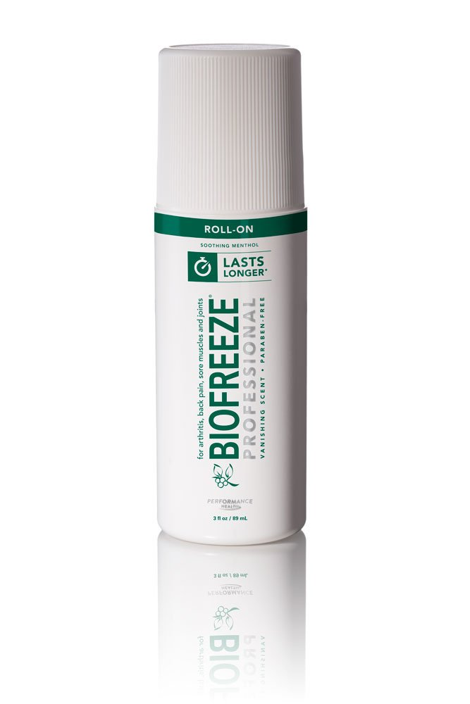 Biofreeze Professional Pain Reliever Gel,Topical Analgesic Cream for Enhanced Relief of Arthritis, Muscle, Joint Pain, NSAID Free Cold Therapy Roll-On 3 Ounce, Original Green Formula, 5% Menthol