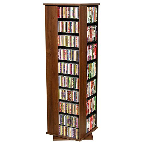 Venture Horizon Revolving Media Tower 1000 - Storage Cabinet Walnut Dvd