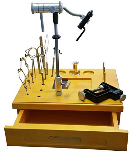 Wooden Fly Tying Station with Tools