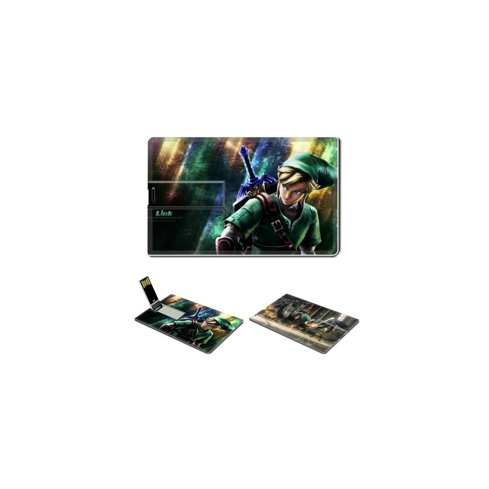 16GB USB Flash Drive USB 2.0 Memory THE LEGEND OF ZELDA Anime Comic Game Credit Card Size Customized Support Services Ready ACG_THE LEGEND OF ZELDA_001_002