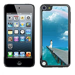 LASTONE PHONE CASE / Carcasa Funda Prima Delgada SLIM Casa Carcasa Funda Case Bandera Cover Armor Shell para Apple iPod Touch 5 / Nature Beautiful Forrest Green 5