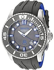 Invicta Mens Pro Diver Automatic Stainless Steel and Silicone Diving Watch, Color:Grey (Model: 20200)