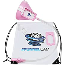 FunnelCam - Pink Beer Bong with Patented Valve, Premium No-Kink 2.5ft Tube and Extra-Large Funnel    FREE Detachable Phone Mount, Bag, Mouth Pieces, Stickers Included