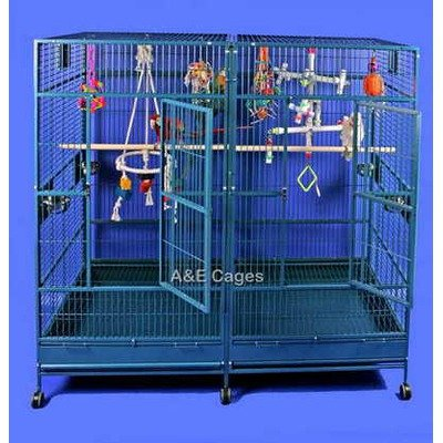 AandE Cage Co. Double Flat Top Macaw Cage, My Pet Supplies