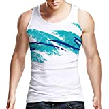 tank top design - Uideazone Teen Boys 90's Cup Design T-shirt Cool Tank Tops White