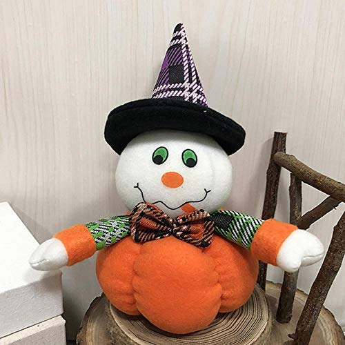 ZAMTAC Decoration Ghost Festival Mall Gifts Hotel Festival Pumpkin Shaped Ornament Cute Halloween Dance Dressing Supplies Bar - (Color: Ghost) -