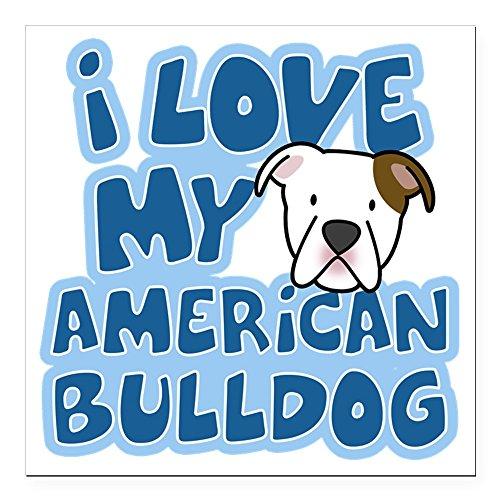 CafePress - Americanbulldog_Animelov Square Car Magnet 3