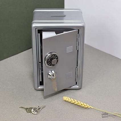 Cadeau Maestro - Hucha-caja fuerte con contador, color plata: Amazon.es: Hogar