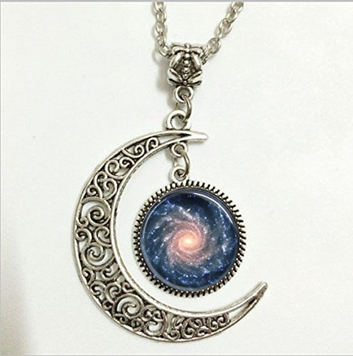 - Spiral Galaxy Pendant,Outer Space Milky Way Astronomy Nebula Art Necklace,Outer Space Milky Way Astronomy Nebula Art Moon Jewelry,moon Necklace Glass Art Picture