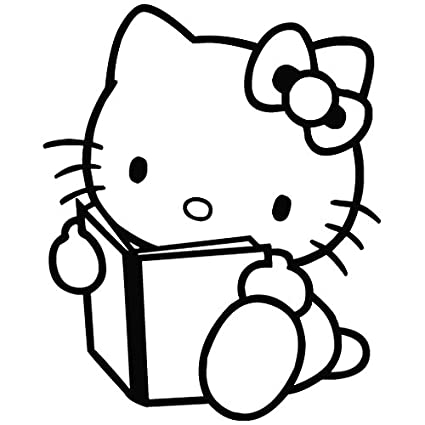 Hello Kitty leer libro – carcasa de vinilo [15 cm negro] extraíble de vinilo
