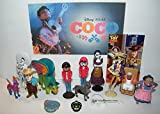 Disney Coco Movie Deluxe Party Favors Goody Bag Fillers Set of 15 with Figures, Tattoo, Sticker and Charm Featuring Miquel, Spirit Gude Pepita, Papa Julio and More!