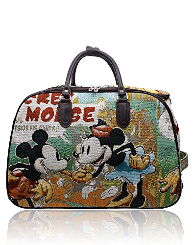 Suitcase Luggage Travel Bag and Mickey Print Cartoon Unisex Minnie Carry Foxlady on wTq6X86