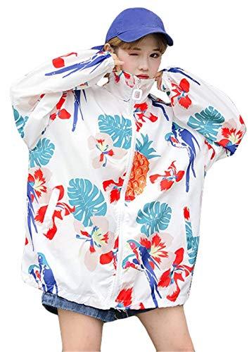 Maniche Sportivo Ragazze Stile Tempo Primaverile B Giubbino Style Fidanzato Outwear Libero Stampato Coat Moda Giacca Leggero Estivi Sciolto Eleganti Lunghe Zip Festa Donna 4wxpg