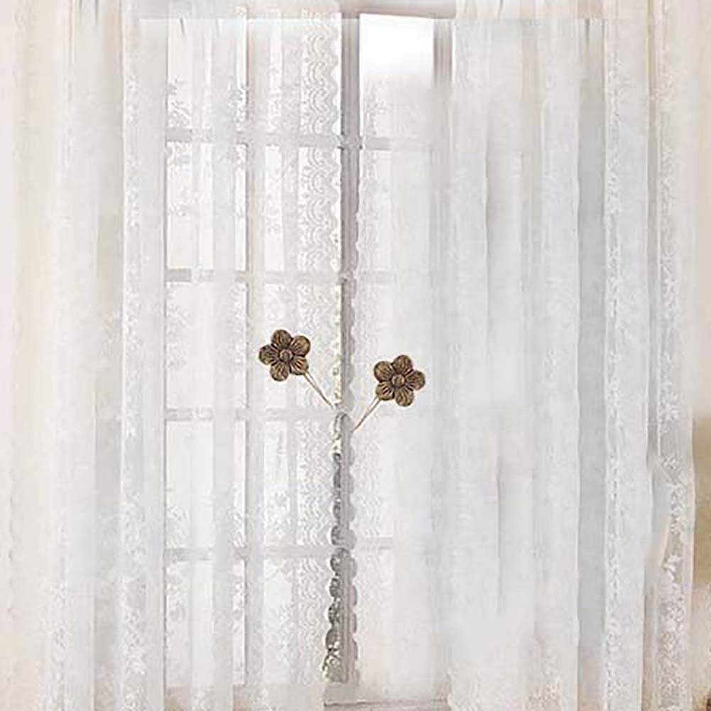 Topxingch Magnetic Curtain Tiebacks Flower Curtains Clips Tie Backs Holdbacks Drapes Holder Home Decor White Tiebacks Holdbacks