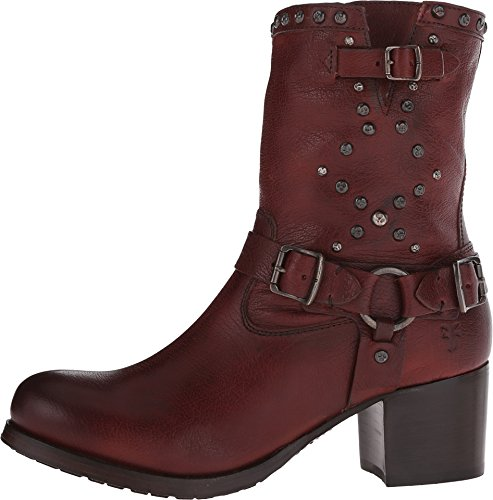 Frye Vera moto de mujer corto botas de motocicleta Dark Brown Washed Antique