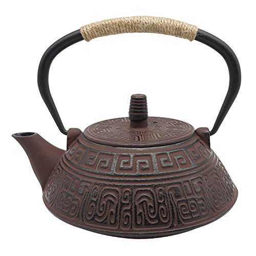 InnoLife Cast Retro Classic Iron Teapot Kettle With Stainless Steel Infuser 800ml/27oz ()